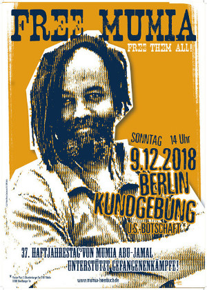 Kundgebung Mumia, Free them All 09.12.2018 Berlin