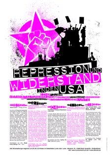 Wandzeitung/Plakat zur Veranstaltungsreihe